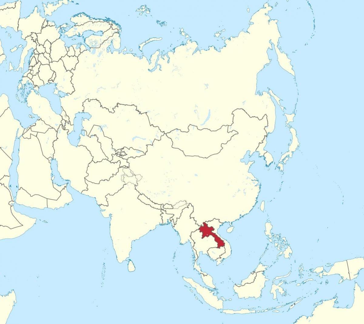 Landkarte Asien.Laos Landkarte Asien Map Of Laos Asien Sud Ost Asien Asien