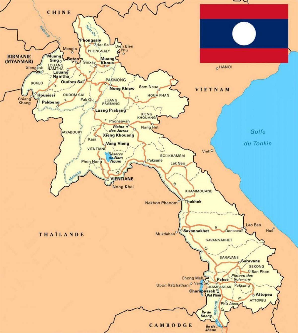 Laos Karte.Laos Karte Detaillierte Karte Von Laos Südost Asien Asia