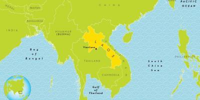 Laos Karte.Laos Karte Karten Laos Südost Asien Asia