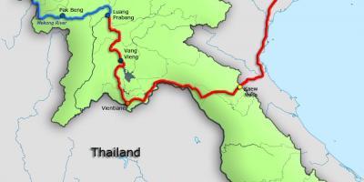 Laos Karte.Karte Von Laos Laos Auf Einer Karte Süd Ost Asien Asien